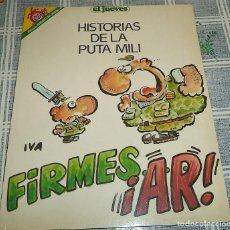 Coleccionismo de Revista El Jueves: PENDONES DEL JUEVES N.º 57 IVA HISTORIAS DE LA PUTA MILI . Lote 169695520