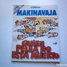 Coleccionismo de Revista El Jueves: COLECCION 'PENDONES DEL HUMOR' 111 - MAKINAVAJA - QUIEN PELEA NO ESTA MUERTO - IVA - EL JUEVES. Lote 171107864