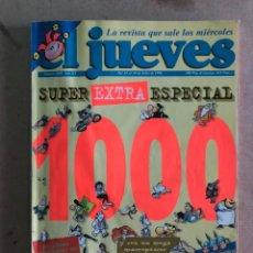 Coleccionismo de Revista El Jueves: EL JUEVES N° 1000 (1996). SUPER EXTRA ESPECIAL NÚMERO 1000. 196 PÁGINAS.. Lote 173354938
