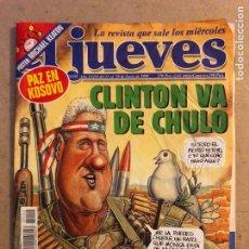 Coleccionismo de Revista El Jueves: EL JUEVES N° 1152 (JUNIO 1999). CLINTON VA DE CHULO, POSTER DE MICHAEL KEATON.. Lote 176393583