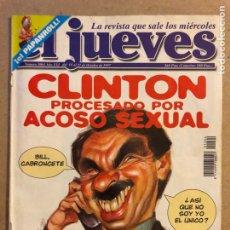 Coleccionismo de Revista El Jueves: EL JUEVES N° 1064 (OCTUBRE 1997). CLINTON PROCESADO POR ACOSO SEXUAL. INCLUYE POSTER. Lote 176454883
