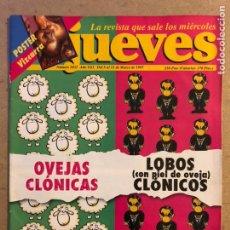 Coleccionismo de Revista El Jueves: EL JUEVES N° 1032 (MARZO 1997). OVEJAS CLONICAS LOBOS CLONICOS. POSTER SANTIAGO SEGURA.. Lote 176455468