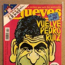 Coleccionismo de Revista El Jueves: EL JUEVES N° 1027 (FEBRERO 1997). LA TV DEL PP VUELVE PEDRO RUIZ. POSTER SYLVESTER STALLONE.. Lote 176455525