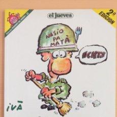 Coleccionismo de Revista El Jueves: PENDONES DEL HUMOR NUM 33 HISTORIAS DE LA PUTA MILI. Lote 179216001