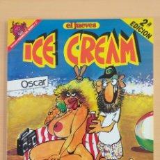 Coleccionismo de Revista El Jueves: PENDONES DEL HUMOR NUM 17 ICE CREAM OSCAR. EL PROFESOR COJONCIANO.. Lote 179220522