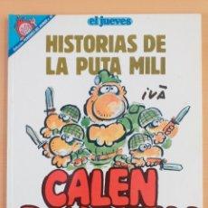 Coleccionismo de Revista El Jueves: PENDONES DEL HUMOR NUM 82. HISTORIAS DE LA PUTA MILI. CALEN BAYONETA !. Lote 179220786