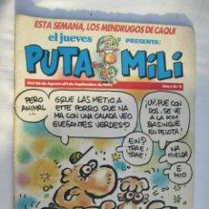 Coleccionismo de Revista El Jueves: EL JUEVES PRESENTA PUTA MILI Nº Nº 9 26-8-1992. Lote 180398111