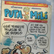 Coleccionismo de Revista El Jueves: EL JUEVES PRESENTA PUTA MILI Nº 11 09-09-1992. Lote 180398428