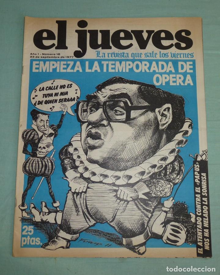REVISTA EL JUEVES AÑO I - NUMERO 18 - SEPTIEMBRE DE 1977. (Coleccionismo - Revistas y Periódicos Modernos (a partir de 1.940) - Revista El Jueves)