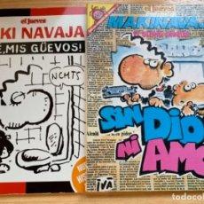 Coleccionismo de Revista El Jueves: EL JUEVES 2 NÚMEROS EXTRA DE MAKINAVAJA. Lote 184352621