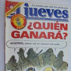 Coleccionismo de Revista El Jueves: REVISTA EL JUEVES - MARZO 2000 - ELECCIONES 2000. . Lote 186343355
