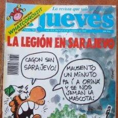 Coleccionismo de Revista El Jueves: EL JUEVES NUM 798. LA LEGION EN SARAJEVO. Lote 187245838