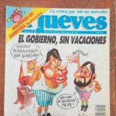 Coleccionismo de Revista El Jueves: EL JUEVES NUM 845. ESPECIAL IVA. EL GOBIERNO, SIN VACACIONES.. Lote 187309202