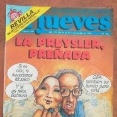 Coleccionismo de Revista El Jueves: EL JUEVES NUM 599. LA PREYSLER, PREÑADA.. Lote 187309438