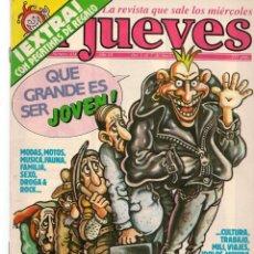 Colecionismo da Revista El Jueves: EL JUEVES. Nº 414. POSTER: QUE GRANDE ES SER JÓVEN. 1 MAYO 1985. (ST/S). Lote 187520685