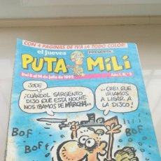 Coleccionismo de Revista El Jueves: LOTE 42 NUMEROS REVISTA PUTA MILI DE EL JUEVES ENTRE EL 2 Y EL 59. Lote 189548061