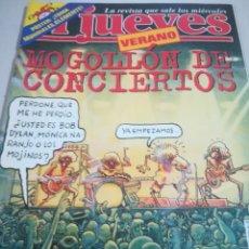 Coleccionismo de Revista El Jueves: REVISTA EL JUEVES Nº 1102 AÑO 1998. MOGOLLÓN DE CONCIERTOS. INCLUYE PÓSTER. REF. GAR 266. Lote 190204330