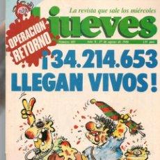 Colecionismo da Revista El Jueves: EL JUEVES. Nº 483. 27 AGOSTO 1986. (ST/S). Lote 191105026