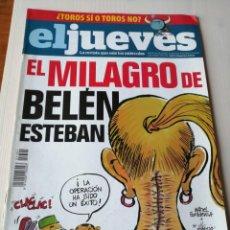 Coleccionismo de Revista El Jueves: EL JUEVES 1701 DICIEMBRE 2009 ENERO 2010 EL MILAGRO DE BELÉN ESTEBAN. Lote 191330310