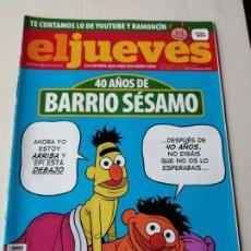 Coleccionismo de Revista El Jueves: EL JUEVES 1695 NOVIEMBRE 2009 40 AÑOS DE BARRIO SÉSAMO. Lote 191377278