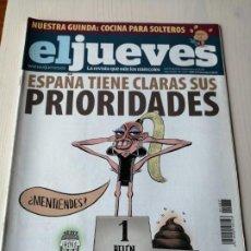 Coleccionismo de Revista El Jueves: EL JUEVES 1687 SEPTIEMBRE 2009 ESPAÑA TIENE CLARAS SUS PRIORIDADES. Lote 191377632