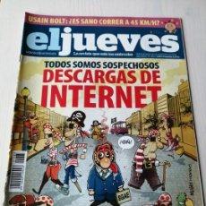 Coleccionismo de Revista El Jueves: EL JUEVES 1683 AGOSTO SEPTIEMBRE 2009 TODOS SOMOS SOSPECHOSOS DESCARGAS DE INTERNET. Lote 191377917