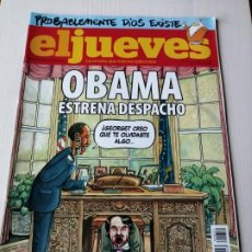 Coleccionismo de Revista El Jueves: EL JUEVES 1652 ENERO 2009 OBAMA ESTRENA DESPACHO. Lote 191380531