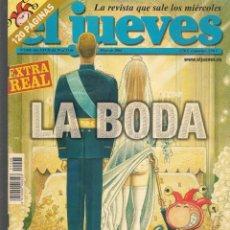 Coleccionismo de Revista El Jueves: EL JUEVES. Nº 1408. LA BODA. 25 MAYO 2004. (ST/SL). Lote 191907600