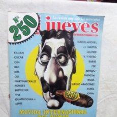 Coleccionismo de Revista El Jueves: EL JUEVES Nº 250 DEL 10 AL 16 DE MARZO DE 1982 MOVIDA INTERNACIONAL DEL HUMOR. Lote 192922451