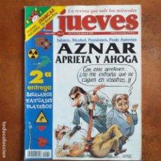 Coleccionismo de Revista El Jueves: EL JUEVES NUM 1002. AZNAR APRIETA Y AHOGA. Lote 193034997