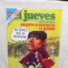 Coleccionismo de Revista El Jueves: EL JUEVES Nº 155 DEL 14 AL 20 DE MAYO DIEGUITO SE DESPIDE DE LA AFISION . Lote 193170847