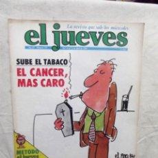 Coleccionismo de Revista El Jueves: EL JUEVES Nº 151 DEL 16 AL 22 DE ABRIL DE 1980 SUBE EL TABACO EL CANCER, MAS CARO . Lote 193259423