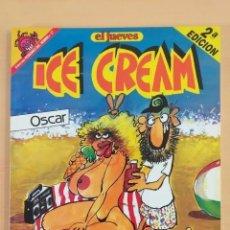 Coleccionismo de Revista El Jueves: PENDONES DEL HUMOR NUM 17 ICE CREAM OSCAR. EL PROFESOR COJONCIANO.. Lote 194303786