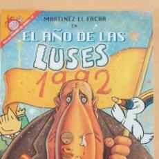 Coleccionismo de Revista El Jueves: PENDONES DEL HUMOR NUM 96. MARTINEZ EL FACHA. EL AÑO DE LAS LUSES. Lote 194303975