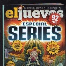 Coleccionismo de Revista El Jueves: REVISTA EL JUEVES Nº 2185 (ESPECIAL SERIES) - ABRIL, 2019 - (92 PÁGINAS) - PESO: 159 GRAMOS -. Lote 194402490