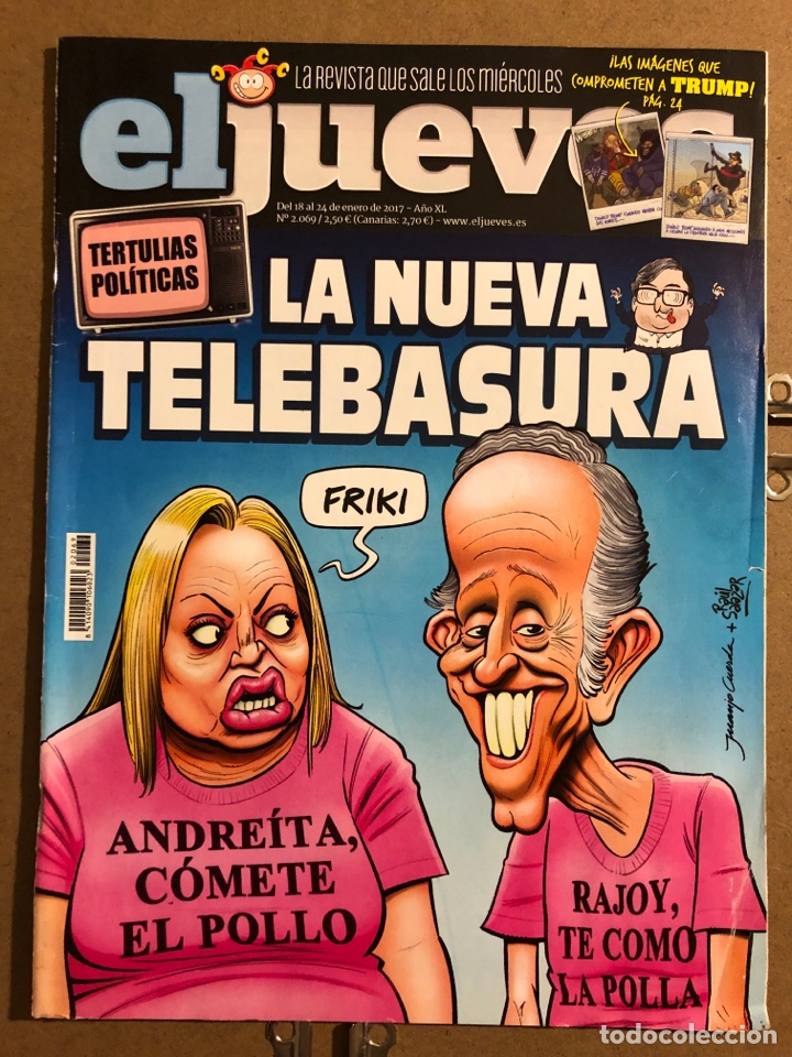EL JUEVES N° 2069 (2017). LA NUEVA TELEBASURA. (Coleccionismo - Revistas y Periódicos Modernos (a partir de 1.940) - Revista El Jueves)