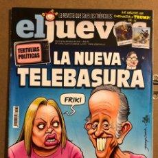 Coleccionismo de Revista El Jueves: EL JUEVES N° 2069 (2017). LA NUEVA TELEBASURA.. Lote 194741627