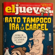 Coleccionismo de Revista El Jueves: EL JUEVES N° 2075 (2017). RATO TAMPOCO IRÁ A LA CARCEL.. Lote 194741663