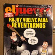 Coleccionismo de Revista El Jueves: EL JUEVES N° 2058 (2016). RAJOY VUELVE PARA REVENTARNOS.. Lote 194741712