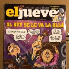 Coleccionismo de Revista El Jueves: EL JUEVES N° 2024 (2016). LA REY SE LE VA LA OLLA: PAQUIRRIN PRESIDENTE.. Lote 194741826