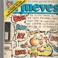 Coleccionismo de Revista El Jueves: EL JUEVES. Nº 641. TELEVISIÓN PRIVADA. 6 SEPTIEMBRE 1989. (ST/SL). Lote 194961985