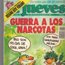 Coleccionismo de Revista El Jueves: EL JUEVES. Nº 643. GUERRA A LOS NARCOTAS. 20 SEPTIEMBRE 1989. (ST/SL). Lote 194962193