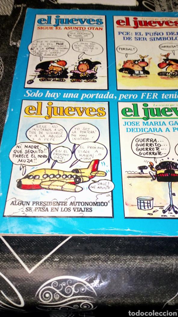 Coleccionismo de Revista El Jueves: Revista satírica el jueves 408 año 1985 ver fotos estado lomo alguna arruga y pintada a bolígrafo - Foto 3 - 195339556