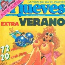 Coleccionismo de Revista El Jueves: REVISTA EL JUEVES EXTRA VERANO NUMERO 475 1986 INCLUYE POSTER OLOROSO FELIPE GONZALEZ. Lote 199458102