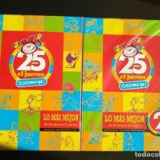 Coleccionismo de Revista El Jueves: EL JUEVES LOS MAS MEJOR DE 25 AÑOS ESPECIAL COLECCIONISTAS 2 TOMOS. Lote 200277457