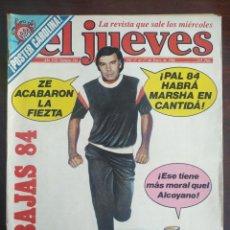 Coleccionismo de Revista El Jueves: UNA REVISTA EL JUEVES Nº 346 DEL 11 AL 17 ENERO 1984. ANÁLISIS POLÍTICO SOCIAL EN CLAVE DE HUMOR. Lote 200287236