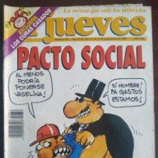 Coleccionismo de Revista El Jueves: UNA REVISTA EL JUEVES Nº 851 DEL 15-21 SEPTIEMBRE 1993 VARIOS NÚMEROS A ELEGIR 855, 1655,. Lote 200288996