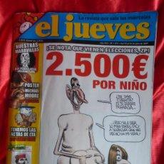 Coleccionismo de Revista El Jueves: EL JUEVES. PORTADA CENSURADA. N 1573. JULIO 2007. 2500 EUROS POR NIÑO - PERFECTO ESTADO -. Lote 201282256