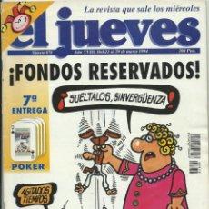 Coleccionismo de Revista El Jueves: EL JUEVES NUMERO 878. Lote 201336641