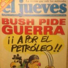 Coleccionismo de Revista El Jueves: EL JUEVES NUMERO 1339 22 AL 28 ENERO 2003 BUSH PIDE GUERRA - POSTER CRISTINA RICCI. Lote 221465510